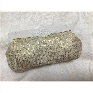 MAC Clutch Makeup Bag Gold & White